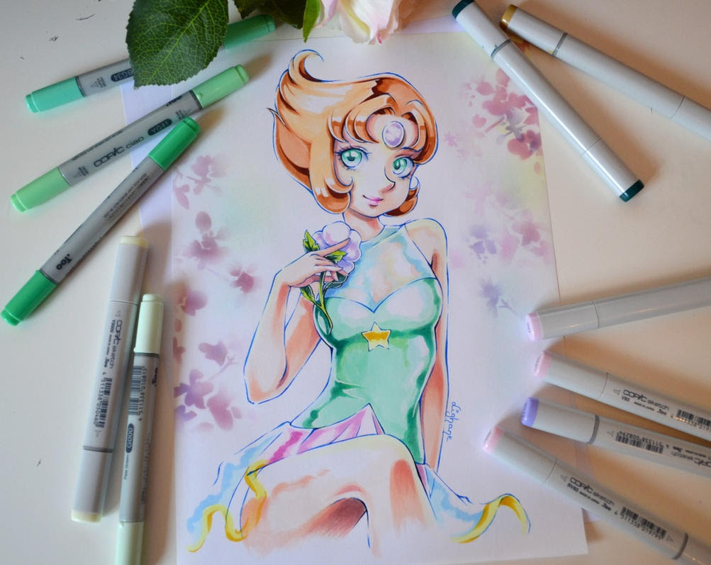 As I recently started watching Steven Universe I totally needed to draw some fanart of Pearl! <3  Who's your favorite character?