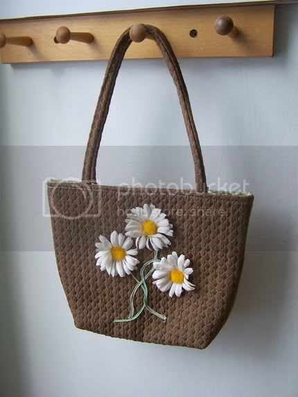 daisy ,tote bag ,floral ,retro