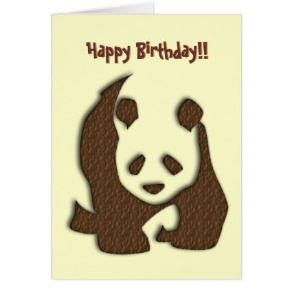 Chocolate Panda birthday card