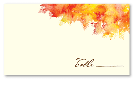 Fall Colors - Place Card cream