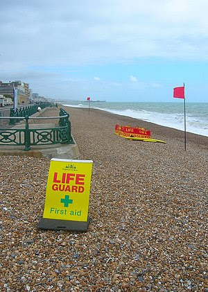 English: Lifeguard Post, Hove Beach King's Esp...