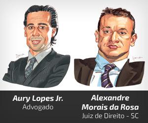 Aury Lopes Jr e Alexandre Morais da Rosa [Spacca]