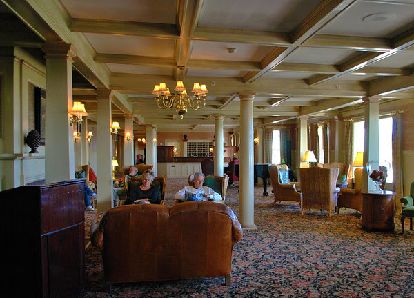A view of the lobby