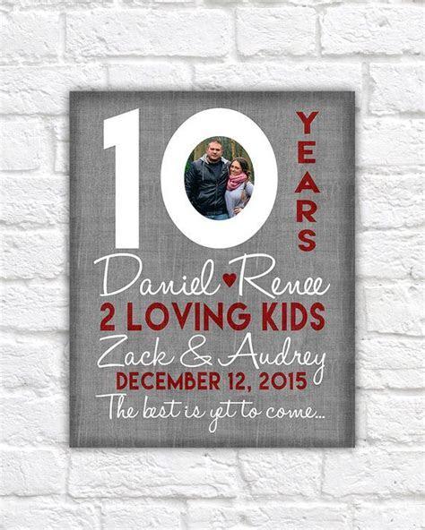 10th Wedding Anniversary Gift, 10 Year Anniversaries