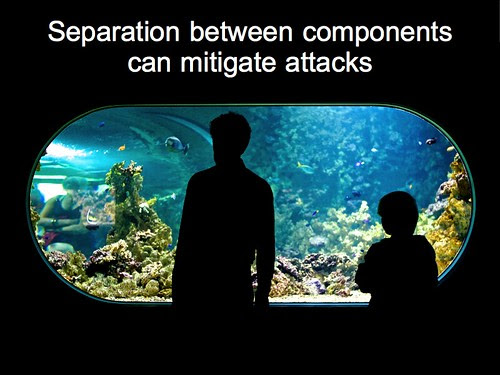 Separation between components can mitigate attacks