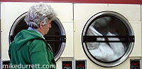 Photo: Mike follows the griping adventures of towels in a dryer.