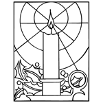 Free Christmas Coloring Pages Candle