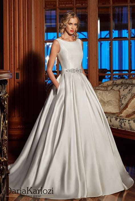 Awesome Ivory Satin Wedding Dress Photos Awesome Wedding