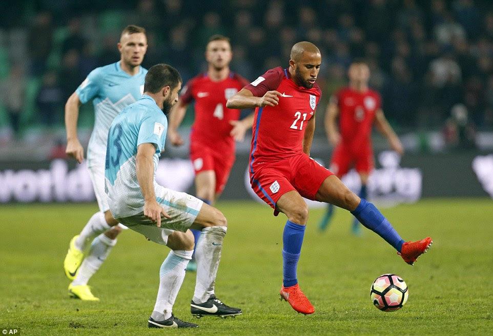 Crystal Palace winger Andros Townsend (right) was also introduced late on, but he could not provide England with a winner
