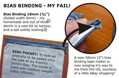 Bias Binding - My Fail (Denim Bag)