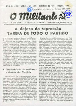 O Militante, Série 3, n.º 177 (DEZ. 1972)