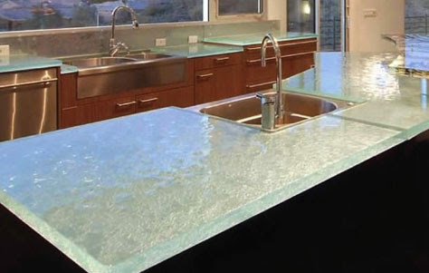 Get Transparent with Think Glass Kitchen Countertops