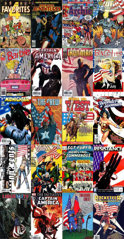 Flag comic books covers