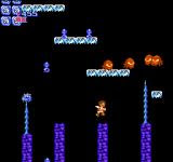 Kid Icarus NES Making a difficult jump in this unforgiving game. Even though you have wings, you can't actually fly (with a few exceptions). If you fall, you have to start over from the beginning of the level.