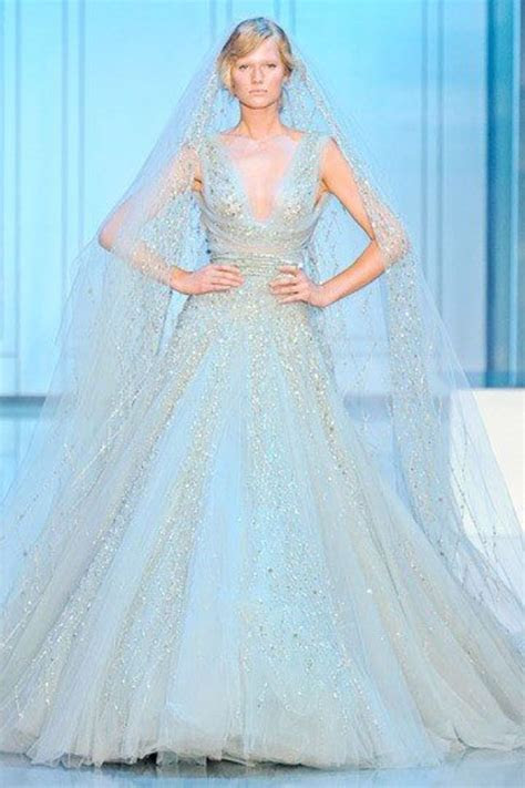 Powder Blue wedding dress ~ ~   Dream Wedding   Pinterest