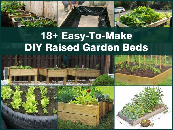 18+ Easy-To-Make DIY Raised Garden Beds