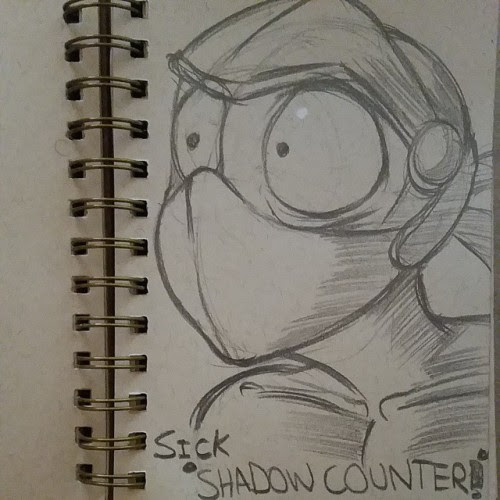 Catchin up with the sketchavember with SHADOW COUNTEEEEEERS!!! #sketchavember #finalfantasy6