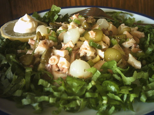 Insalata di moscardini in verde