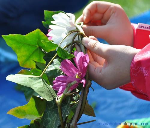 Making flower wreaths
