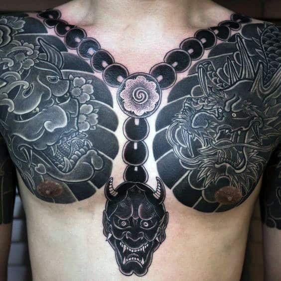 50 Japanese Chest Tattoos For Men Masculine Design Ideas