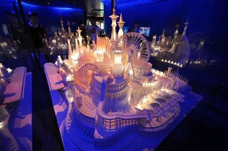 Papercraft Castle In The Ocean