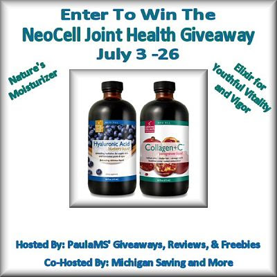 Enter to Win theNeoCell Joint Health #Giveaway July 3 -  26 #jointhealth