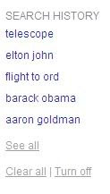 Bing search history