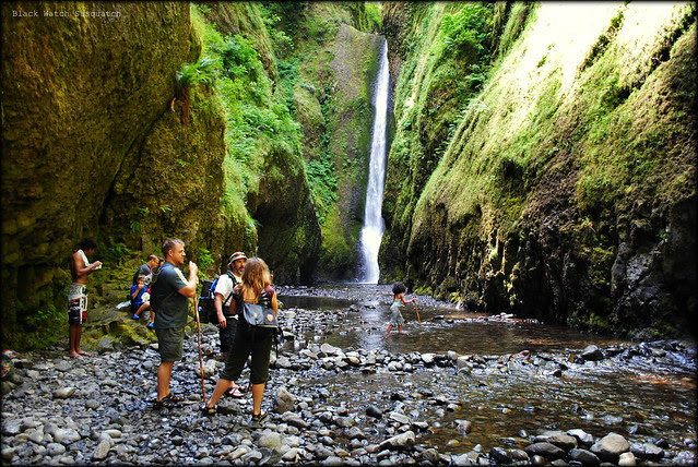 The waterfall at the end of Oneonta Gorge