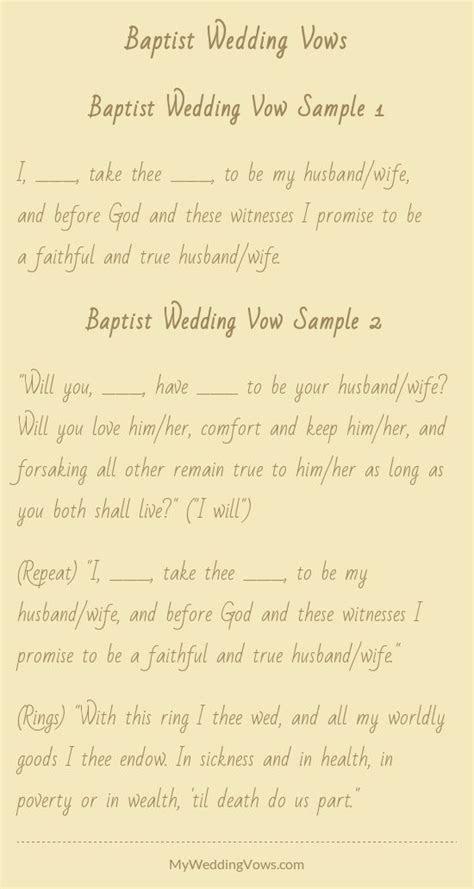Baptist Wedding Vows   A girl can dream    Wedding
