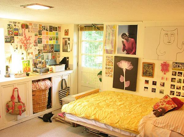 bright dorm bedroom design