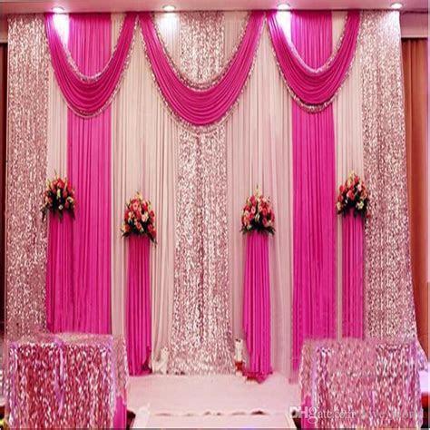 A Set 3x6m Luxury Wedding Background Gauze Curtain