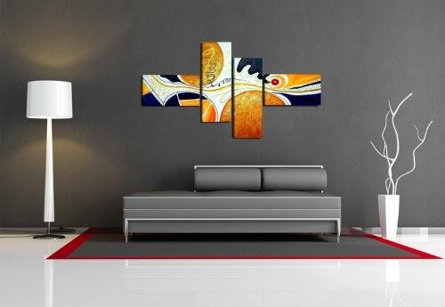 quadro su tela handpainted look 160 x 70 cm 4 tele modello nr xxl 6511 i quadri sono montati su. Black Bedroom Furniture Sets. Home Design Ideas