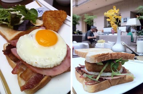 Bacon, Grilled Ham, Hash Browns, Egg, Salad Sandwich-1