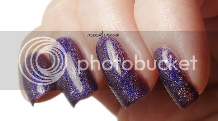 xoxo, Jen's swatch of Glitterdaze Glistening Plumsicles nail polish