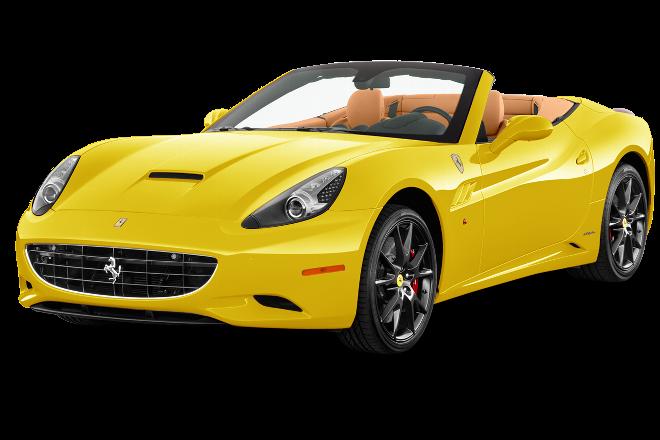 Yellow Ferrari Car Png Image