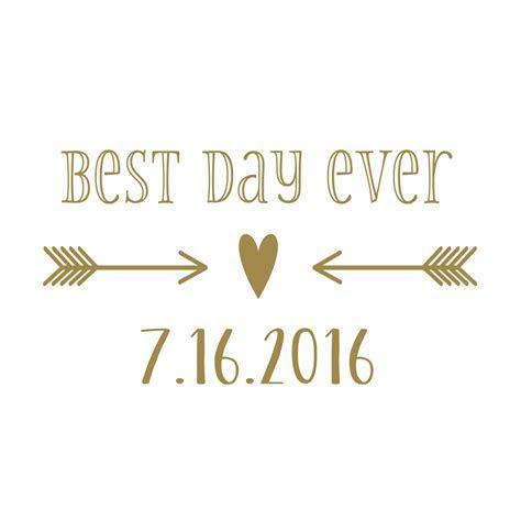 Custom Wedding Vinyl Decal Set for Cornhole   Best Day