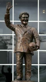 Bates statue (not to scale)