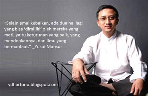 kata bijak ustadz yusuf mansur penuh motivasi yudi