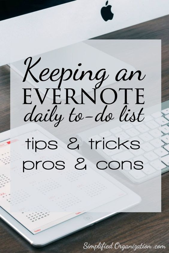 Keeping an Evernote daily to-do list | Evernote, Journals and Tools