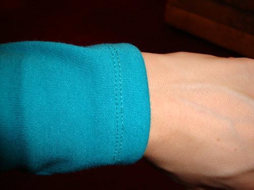 twin needle stitching--woo!