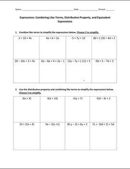 35 Distributive Property Worksheet 7th Grade   Worksheet ...