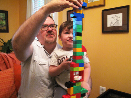 Brent Almond with his 4-year-old son, Jon. Almond began blogging several years ago to review kids' products, but soon found that he got more satisfaction from chronicling daily life as a father.