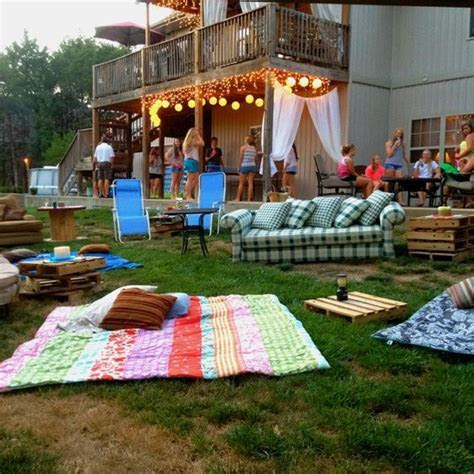 Outdoor movie night/ Swimming, movie and s'mores.:   Kids