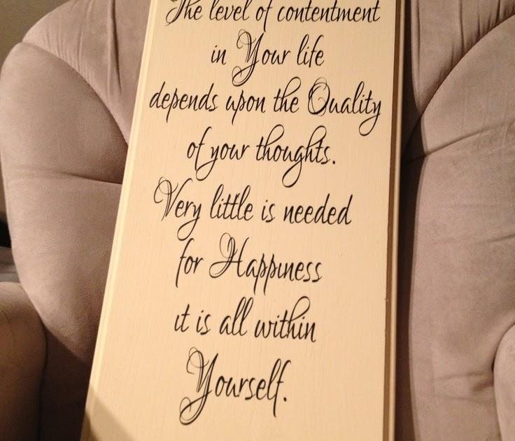 Marcus Aurelius Quotes: The Level Of Contentment In Your
