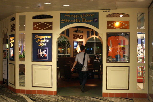 The Singapore Straits Bar is part of the Harry's Bar chain