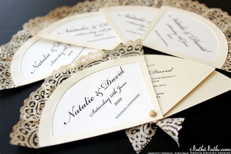 Spanish Fans Wedding Theme   Real Weddings Stationery by