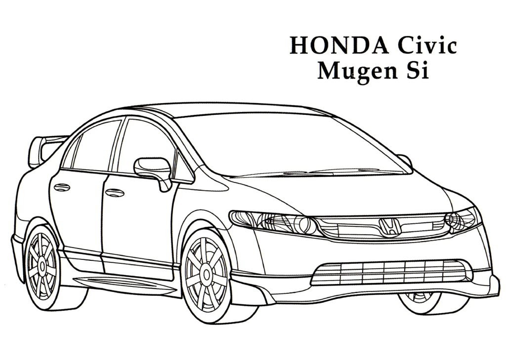 Honda Coloring Pages
