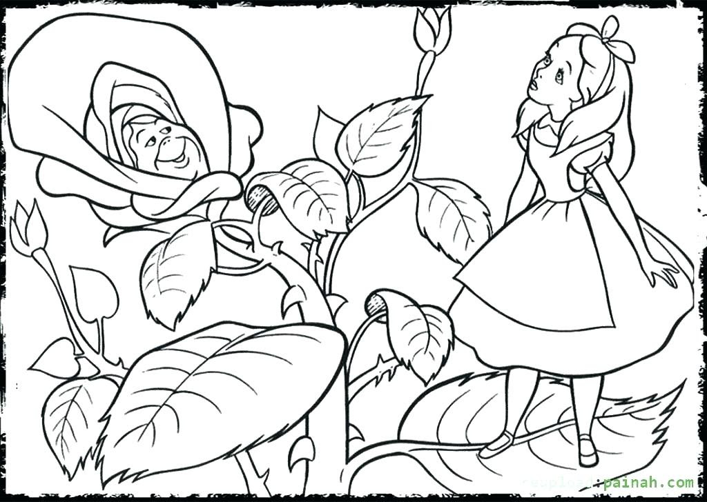Detailed Alice In Wonderland Coloring Pages For Adults - Coloring And  Drawing