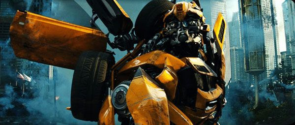 Moments after he eliminates Soundwave, Bumblebee watches as a Decepticon ship crashes in Chicago in TRANSFORMERS: DARK OF THE MOON.