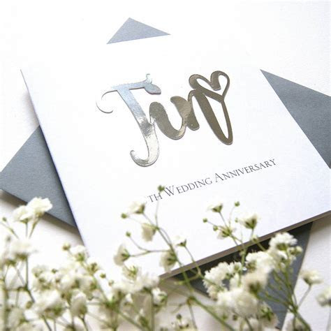 tin 10th wedding anniversary card by the hummingbird card